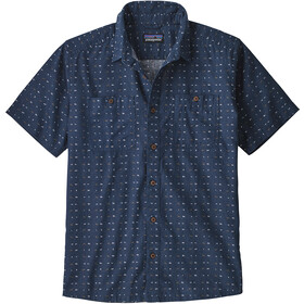 Patagonia M's Back Step Shirt Tiger Micro/Stone Blue